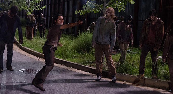 Steven Yeun as Glenn Rhee - The Walking Dead _ Season 6, Episode 9 - Photo Credit: Gene Page/AMC