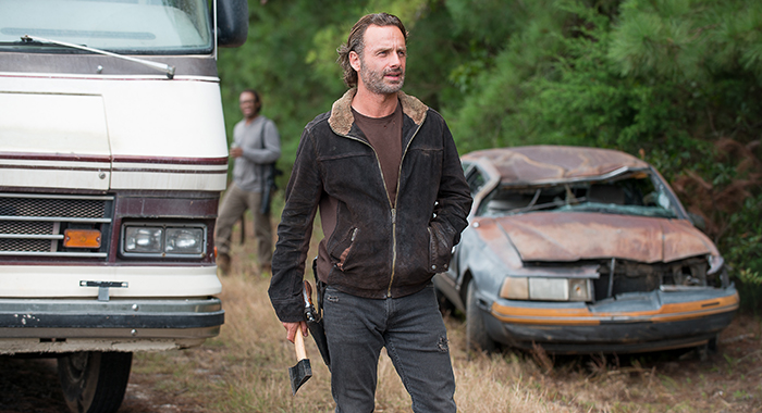 Andrew Lincoln as Rick Grimes - The Walking Dead _ Season 6, Episode 12 - Photo Credit: Gene Page/AMC